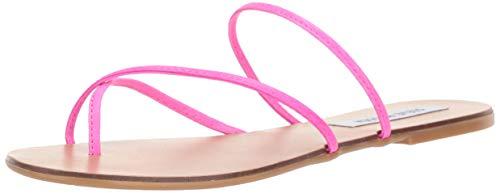 Steve Madden Women's Wise Sandal, Pink neon,