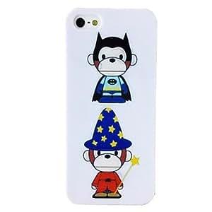 Mini - Magic Monkey Pattern TPU Soft Case for iPhone 5/5S , Color: Multicolor