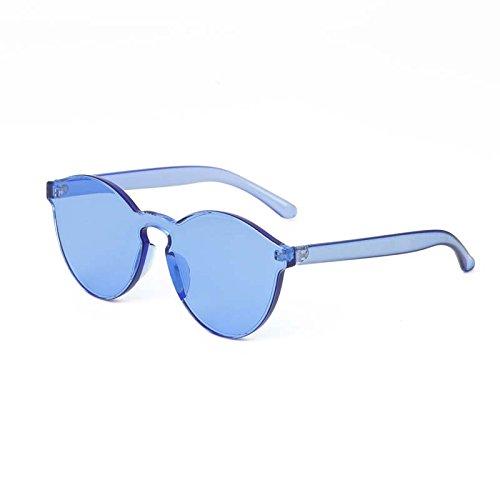 Bastidor Las Gafas De blue Vintage De Sol Sol Gafas Transparente De Color Chica Transparentes Gafas Sky De De Mujeres Sin TIANLIANG04 7R0qxd0