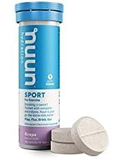 nuun Hydration Sport For Oefening | Elektrolyt tabletten | Iso drank met mineralen | veganistisch en glutenvrij | 10 bruistabletten Tabs voor 10 x 500 ml drank | Grape, 55 g