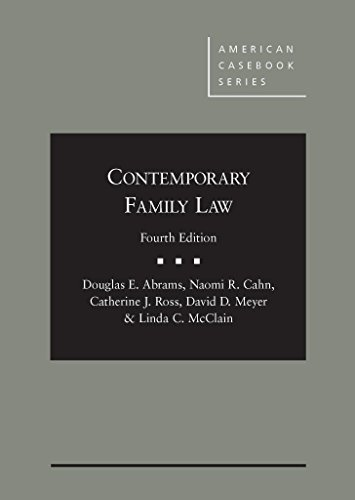 Contemporary Family Law (American Casebook Series) PDF