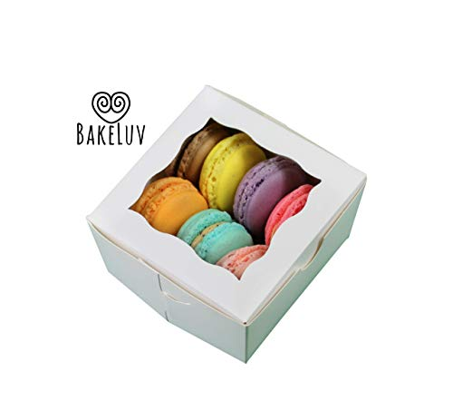 """Bakery Boxes with Window 4x4x2.5"""" by BakeLuv 