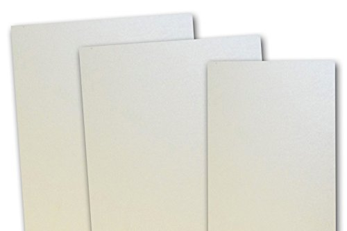 Metallic Opal 5x7 Blank Cards 25 Pack (Opal Flat Card)