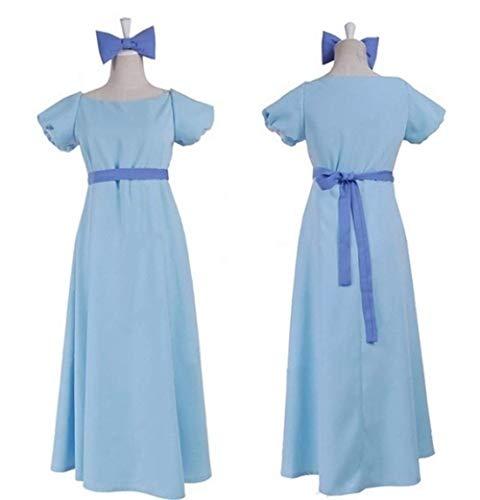 Film Peter pan Wendy Rachael Cosplay Costume Party Dress Women Long Dress ()