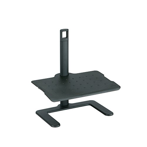 (Safco Products 2129BL Adjustable Footrest, Black)