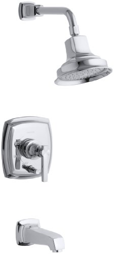 KOHLER K-T16233-4-CP Margaux Rite-Temp Bath and Shower Faucet Trim with Lever Handle, Polished Chrome