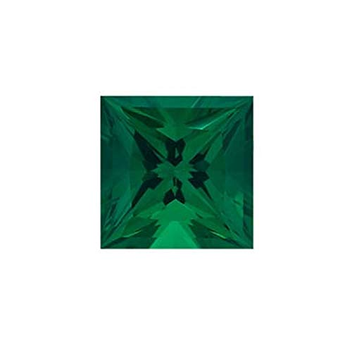Mysticdrop 0.19-0.23 Cts of 3.5x3.5 mm AAA Square-Princess Cut Lab Created Emerald (1 pc) Loose Gemstone