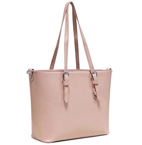 Sac cuir Rosé Femmes Shopper Melissa main travailler femme à main étudier pour amp; à simili sac Vanessa UqRO80a