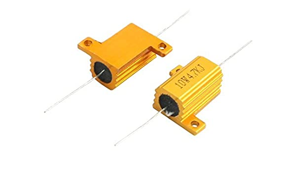 eDealMax a14010900ux0077 2 pieza axial Plomo Dorado Carcasa ...