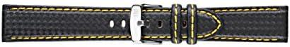 [モレラート]Morellato BIKING バイキング 時計ベルト 20mm ブラックイエロー ラバー時計ベルト U3586 977 897 020