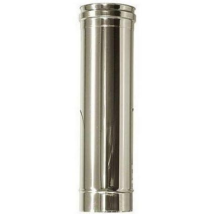 Tubo de acero inoxidable para chimeneas L 500 mm: Amazon.es ...