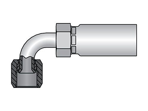 Parker 1L955-12-12 Medium Drop Elbow 3//4 JIC Swivel X 3//4 Hose Stl