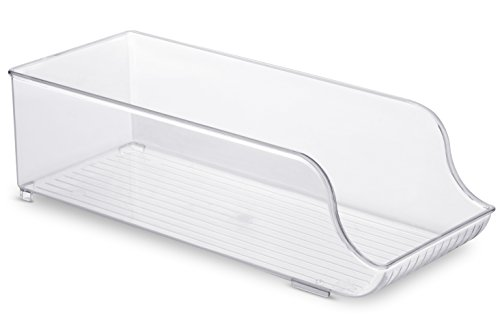 Price comparison product image Clear Refrigerator Organizer - Kitchen Pantry - Cabinet Storage - By Utopia Home (Regular)
