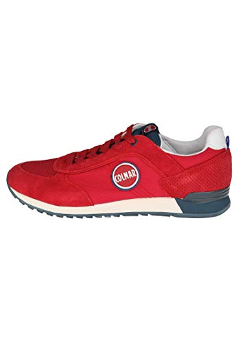 Baskets Rouge Homme Tracol Bleu Colmar Chaussures Lacets 80wnmOPyNv