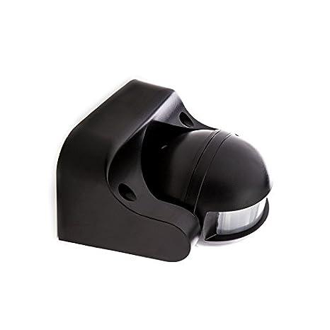 Sensor de Movimiento de Superficie Negro 180º IP44 hasta 1200/300W
