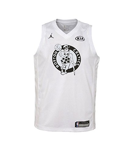 670e26ab1449 Galleon - NIKE Jordan Youth s 2018 All-Star Boston Celtics Kyrie Irving Basketball  Jersey White Black (Medium)
