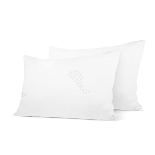 Zen Bamboo extremely Plush Gel Pillow - (2 Pack Queen) Premium Gel Fiber Pillow utilizing Cool & Breathable Bamboo Cover - Dust Mite invulnerable & Hypoallergenic Black Friday & Cyber Monday 2018