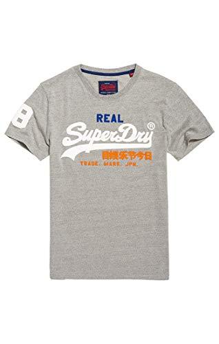 Logo Grit Superdry Tri Tee Grigiomontana Vintage Vy8 Grey Nn0vm8Ow