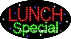 Lunch Special Flashing & Animated LED Sign (High Impact, Energy Efficient)