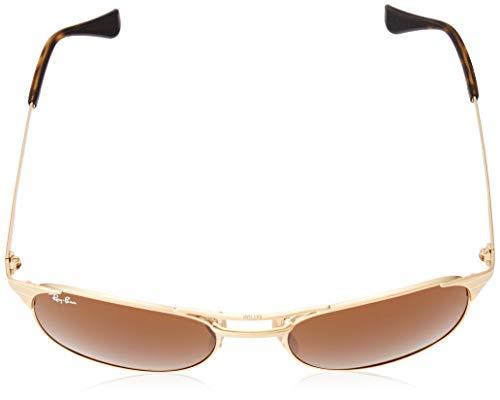 Ray-Ban Men's Metal Man Square Sunglasses, Gold/Brown, 55 mm by Ray-Ban (Image #4)