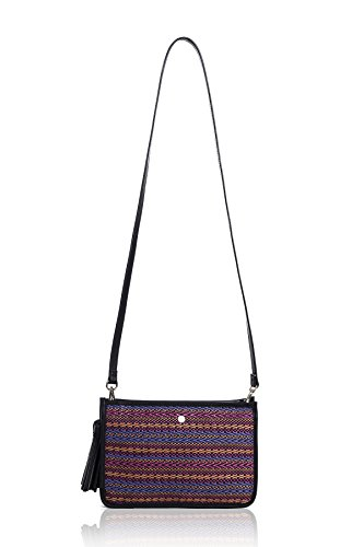 The Lovely Tote Co. Women's Tassel Straw Crossbody (Side Tassels)