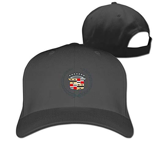 Motors General Cadillac (HANRUI New Custom General Motors Cadillac Logo1 Geek 100% Organic Cotton Cricket Cap for Mans Casquette Black)