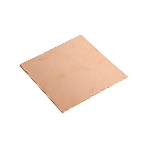 18 Gauge 0.040 Dead Soft Copper Sheet Metal - 6x6 Inch