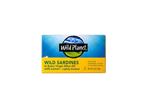Wild Planet, Sardines In Extra Virgin Olive Oil with Lemon, 4.4 Ounce (Genova Tuna)
