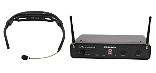Samson Wireless Aerobics Headset Mic Fitness System 4 Workout, Yoga, Spin Class ()