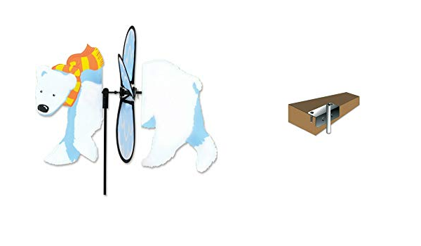 Premier Kites Greyhound Petite Spinner /& 6mm Deck Mount Bundle of 2 Items