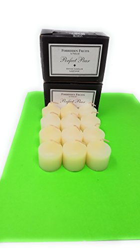 PartyLite Universal Scented Fruit Votives 1 Dozen (Perfect Pear)