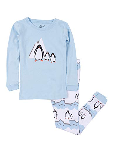 (Leveret Kids Pajamas Boys Girls 2 Piece pjs Set Animal Prints 100% Cotton (Size 12 Months-14 Years) (2 Toddler, Penguin))