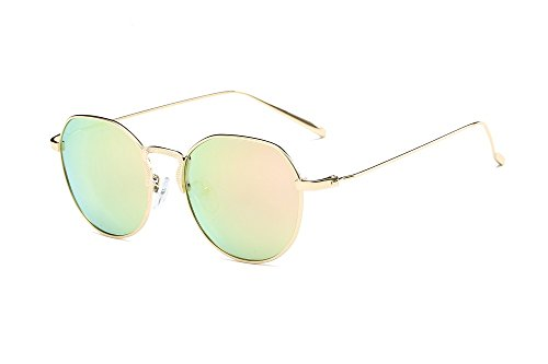 WANJUN Polarized Sunglasses Retro Travel Driving Sports Sunglasses For 2017(GS8040) (Golden frame - cherry ()