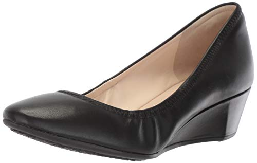 Cole Haan Women's Sadie Wedge 40MM Pump, Black Leather, 9 B US