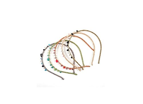 Colorful Headband Decorative Color Hairband Glass Hairpin Yinche Random Crystal Headdress gadwqS1