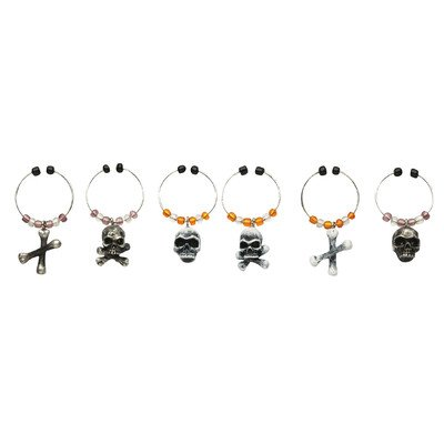 Bone Collector Wine Charm (Set of -