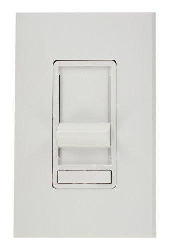Leviton 86677-7W Architectural Slide Fluorescent Dimmer, 277 Vac, Color White, Decora Frame (Leviton Frame Color)