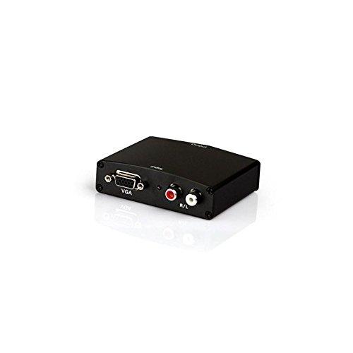 Conversor VGA fêmea com áudio para HDMI fêmea