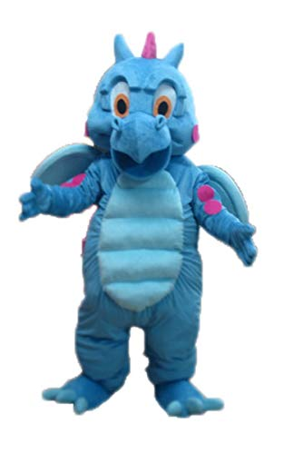 Cute Blue Dinosaur Mascot Costume for Adult Wear Animal Mascots for School and College]()