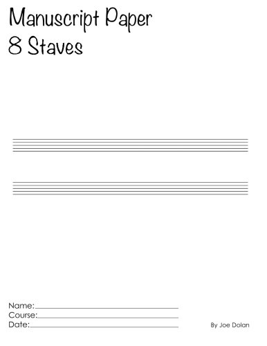 Download Manuscript Paper - 8 Staves: Scholar Series Student Manuscript Books From LayFlat Sketchbooks ebook