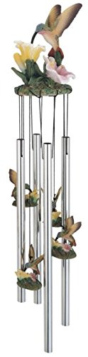 George S. Chen Imports SS-G-41275 Wind Chime Round Top Hummingbird Hanging Garden Decoration