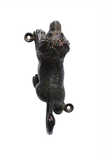 Rustic Lion Black Pewter Wall Hook