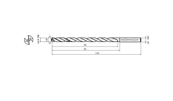 Internal Coolant 2.2 mm Point Length Mitsubishi Materials MWS04844X15DB MWS Series Solid Carbide Drill 12.304 mm Cutting Dia 12.7 mm Shank Dia. 15 mm Hole Depth