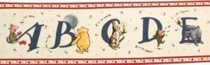 Pooh Border (Classic Alphabet Pooh Wall Border Ecry / Cranberry by Classic Pooh)