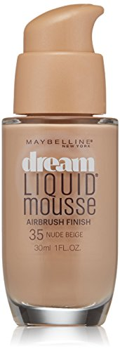 Maybelline New York Dream Liquid Mousse Foundation, Nude Beige, 1 fl. oz.(Packaging May Vary)