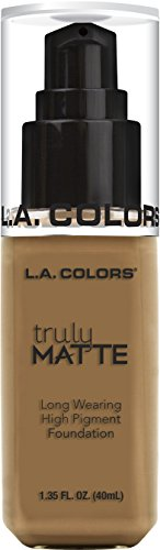 L.A. Colors Truly MATTE Long Wearing High Pigment Foundation (CLM362 Warm Caramel) (Caramel Finish Medium)
