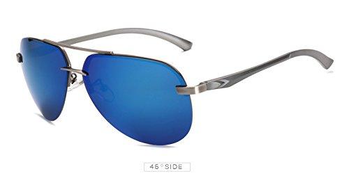 Gris Negro de Las Sol Marca Gafas vidrios Espejo Azul Aviaci¨®n de de Pynxn de 9030 piloto para polarizadas Unisex Sun Mujeres Deportes Oculos de Conducci¨®n Hombres polariod la los Gris FnzxUf