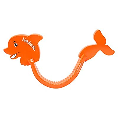 Nekdoodle Swimming Pool Noodle for Kids | Swim Training & Exercise Aid | Fun & Recreational Pool Toy - Orange Dolphin: Toys & Games