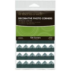 Bulk Buy: Therm O Web (3-Pack) Decorative Photo Corners 126/Pkg Silver PCS126-3879 by THERMOWEB