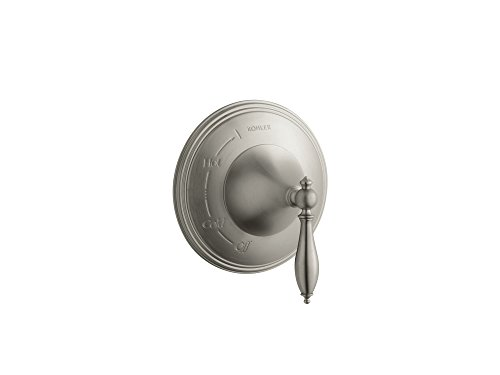 KOHLER TS309-4M-BN Finial(R) Traditional Rite-Temp(R) valve trim with lever handle